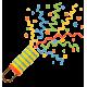 Ручные и дистанционные пневматические конфетти-установки. Метафан, цветная бумага, сердца, серпантин